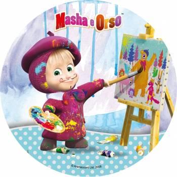 Disque en sucre Masha et Michka 1
