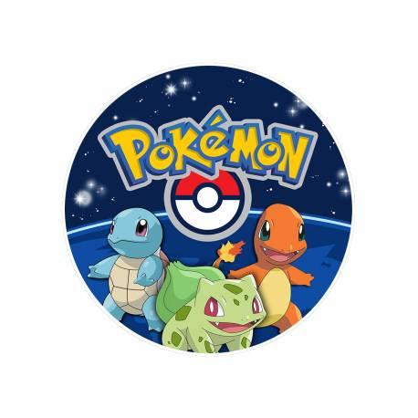 Disque sucre comestible Pokemon Go pour la déco de vos gâteaux. Se pose idéalement sur un gâteau recouvert de pâte à sucre ou de pâte...