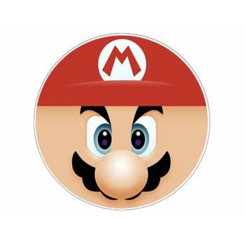 Décor sur sucre tête de Mario Bros