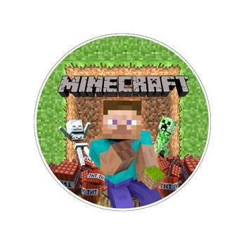 Décor sur sucre Minecraft Herobrine