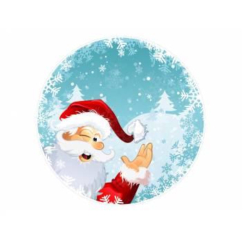 Décor sur sucre père Noël