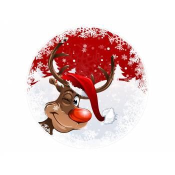 Décor sur sucre renne de Noël