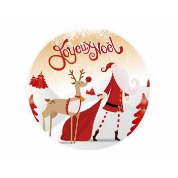 Décor sur sucre joyeux Noël or