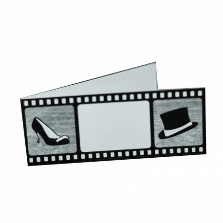 25 marque places theme cinema. Dimensions: 8.5 x 3.3 cm