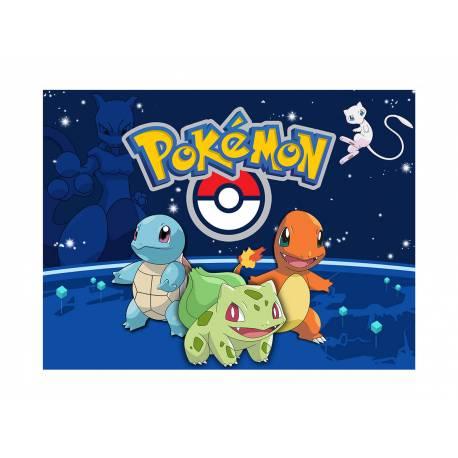 Photo comestible rectangle Pokemon Go pour la décoration de votre gâteau d'anniversaire rectangle (format A4). Simple à utiliser, et il...