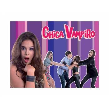 Décor sur sucre Chica Vampiro violet A4