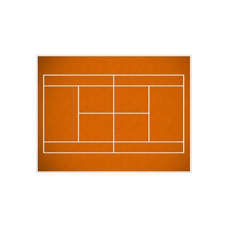 Photo comestible rectangle decor terrain tennis pour la décoration de votre gâteau d'anniversaire rectangle (format A4). Simple à...