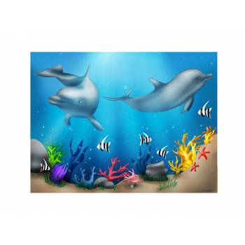Decor sucre Dauphins A4
