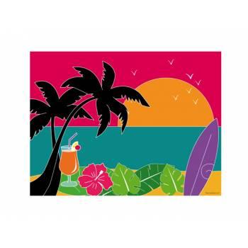 Décor sur sucre Hawaï A4