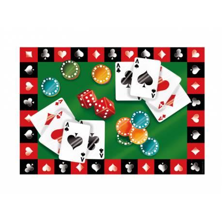 Photo comestible rectangle Poker pour la décoration de votre gâteau d'anniversaire rectangle (format A4). Simple à utiliser, et il...