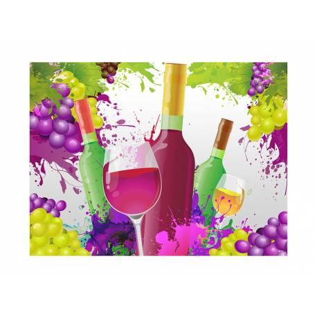 Photo comestible rectangle vin pour la décoration de votre gâteau d'anniversaire rectangle (format A4). Simple à utiliser, et il suffit...