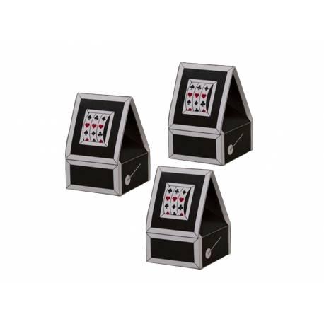 10 boîtes à dragées thème casino Dimensions : 7,5 cm x 5 cm