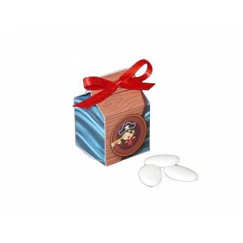 10 Boîtes à dragées cube pirate