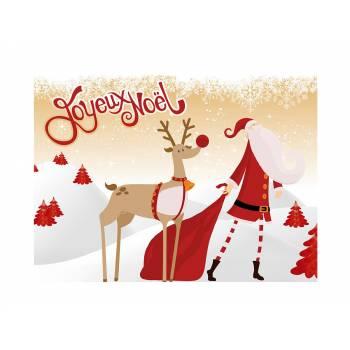 Décor sur sucre joyeux Noël or A4