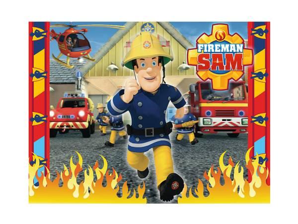 Photo comestible rectangle sam le pompier - Photo sam le pompier ...