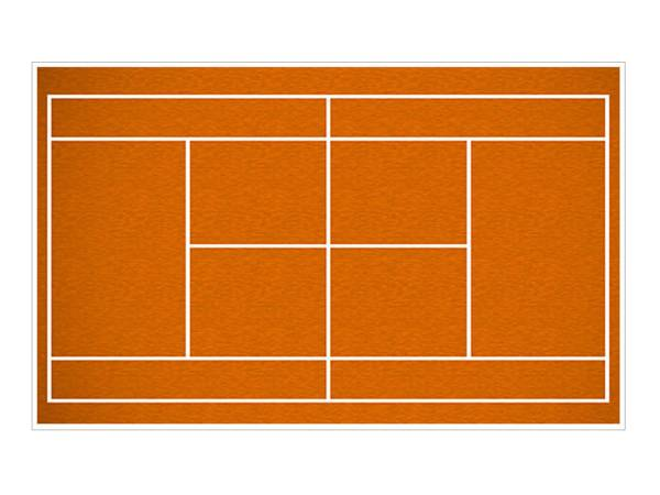 Feuille de sucre terrain de tennis A3