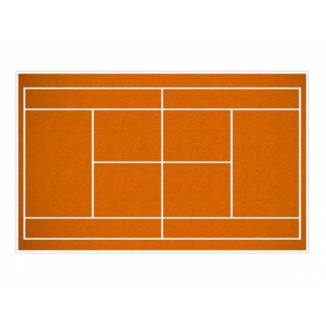 Décor sucre terrain de tennis A3 pour la décoration de votre grand gâteau d'anniversaire rectangulaire (format A3). Simple à utiliser,...