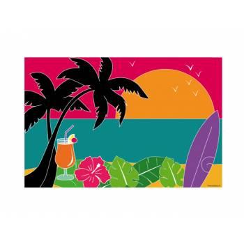 Décor sur sucre Hawai A3