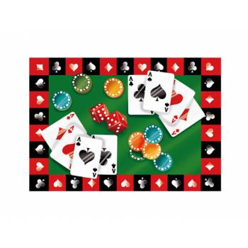 Photo comestible Poker A3