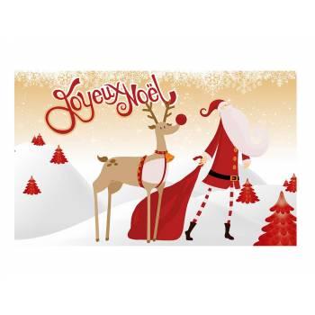 Décor sur sucre Joyeux Noël or A3
