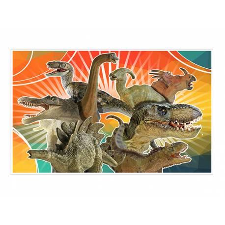 Décor sucre Dinosaure A3 pour la décoration de votre grand gâteau d'anniversaire rectangulaire (format A3). Simple à utiliser, et il...