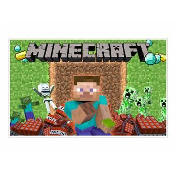 Décor sur sucre Décor Minecraft A3