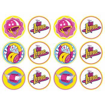 12 Mini décors sur sucre Soy Luna