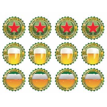 12 Mini décors sur sucre bière