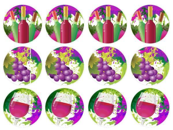 Mini photo comestible vin