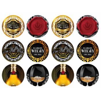 12 Mini décors sur sucre whisky