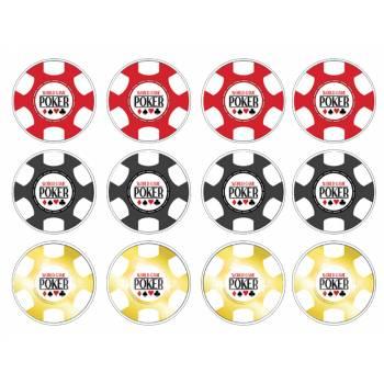 12 Mini décors sur sucre poker