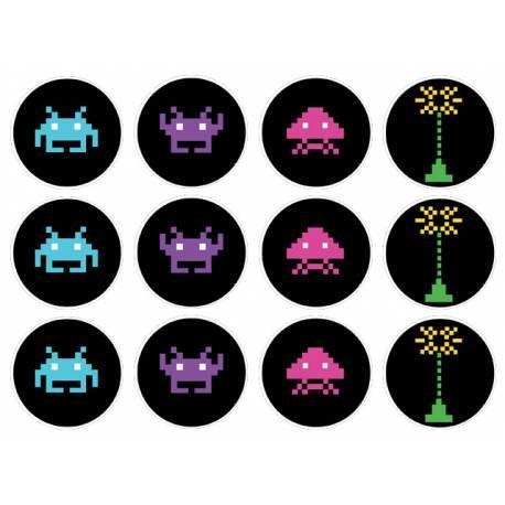 12 mini disques sucre décor Game pour la décoration de vos petits gâteaux et cupcakes d'anniversaire. Ces mini disques ne possèdent pas...
