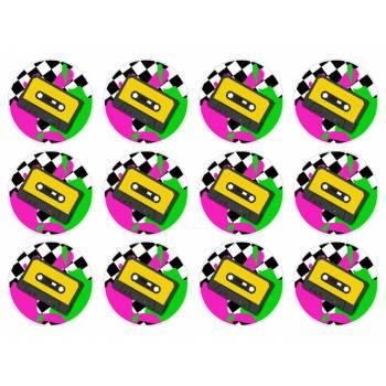 12 Mini décors sur sucre Cassette