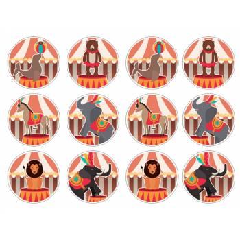 12 Mini décors sur sucre cirque