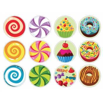12 Mini décors sur sucre sucreries