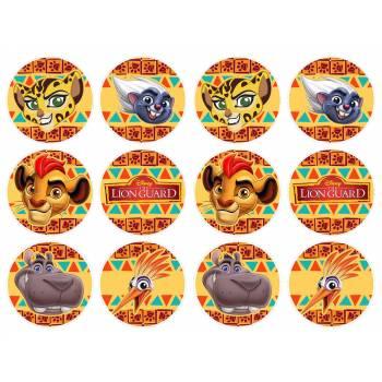 12 Mini décors sur sucre Le Roi Lion