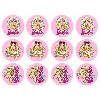 12 Mini décors sur sucre Barbie Pop Star
