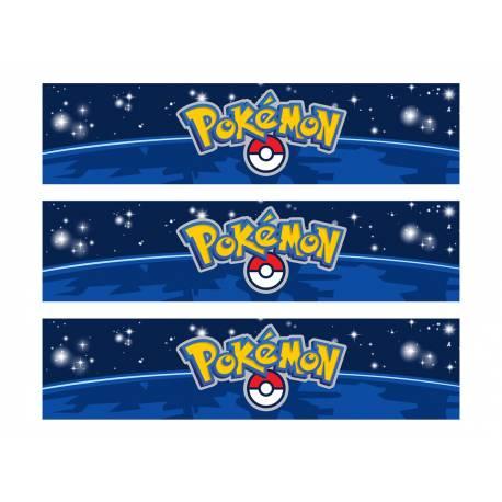 Bandes de sucre pour décorer le contour de vos gâteaux sur le thème Pokemon Go Livré en 3 bandes de 27 cm de long et 6.5 cm de...