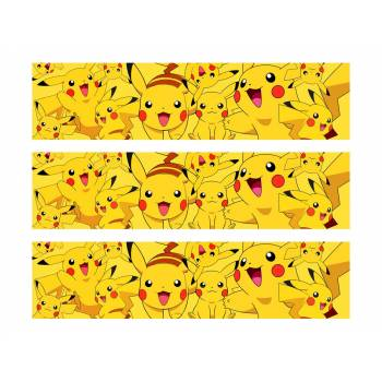 3 Bandes de gâteaux sucre Pikachu