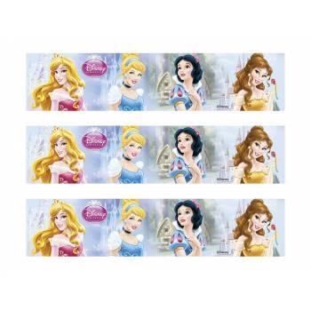 3 Bandes de gâteaux sucre décor princesses Disney