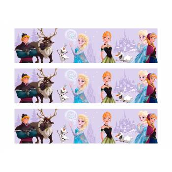 3 Bandes de gâteaux sucre décor La reine des neiges