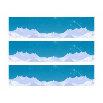 3 Bandes de gâteaux sucre décor glaciers