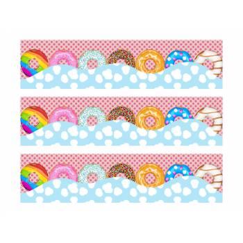 3 Bandes de gâteaux sucre décor Donuts