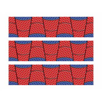 Lot 3 Bandes en sucre motif Spiderman