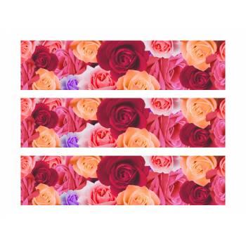 3 Bandes de gâteaux sucre décor roses