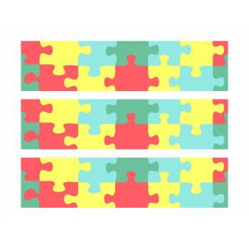 3 Bandes de gâteaux sucre décor puzzle