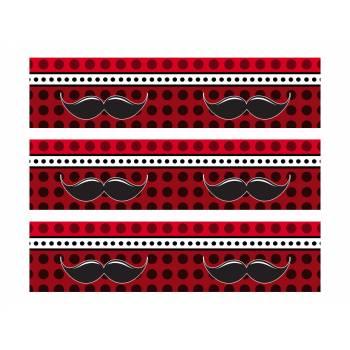 3 Bandes de gâteaux sucre décor moustache