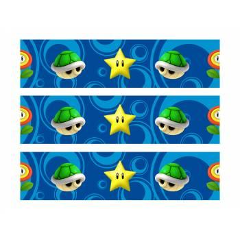 3 Bandes de gâteaux sucre décor Mario