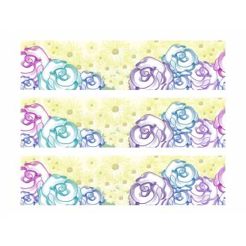 3 Bandes de gâteaux sucre décor fleurs