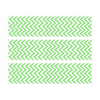 3 Bandes de gâteaux sucre décor chevrons vert